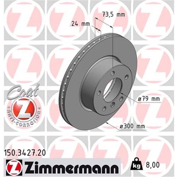 Bremsbeläge BMW E90 E93 E92 E91 X1 vorne ZIMMERMANN Bremsen Kit Bremsscheiben