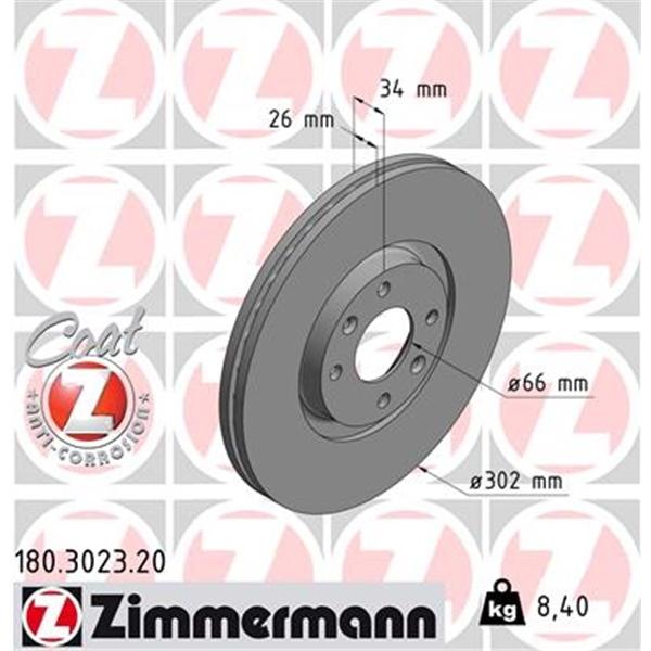 Zimmermann SPORT Bremsscheiben Bremsbeläge Citroen C4 Peugeot 207 307 vorne